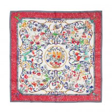 Hermes Pierre D'Orient Et D'Occident Square Silk Scarf (01)