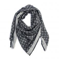 Louis Vuitton Grey:Black Monogram Shawl (01)
