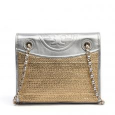 Tory Burch Fleming Metallic Flap Shoulder Bag (01)
