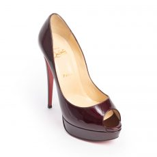 hristian Louboutin New Very Prive Peep - Toe Platform Pumps (05)