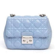 Christian Dior Blue Cannage Leather Miss Dior Mini Shoulder Bag (01)