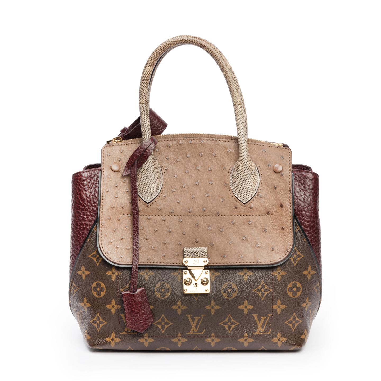 Louis Vuitton Limited Edition Bordeaux Exotique Monogram Majestueux PM Tote (01)