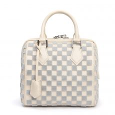 Louis Vuitton Limited Edition Gris Creme Damier Cubic Speedy Cube PM Bag (02)