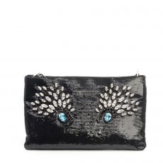 Prada Black Sequin Teardrop Clutch (02)
