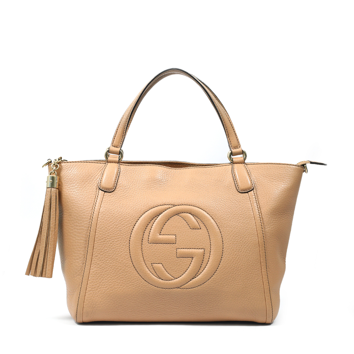 Gucci Pebbled Leather Small Soho Top Handle Bag (01)