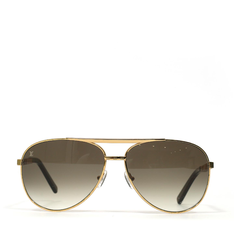 Louis Vuitton Attitude Pilote Sunglasses Z0339U Gold  (04)
