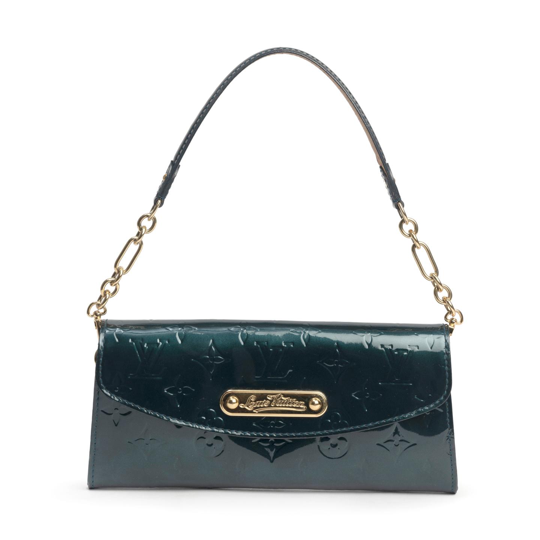 Louis Vuitton Blue Nuit Monogram Vernis Sunset Boulevard Bag (01)
