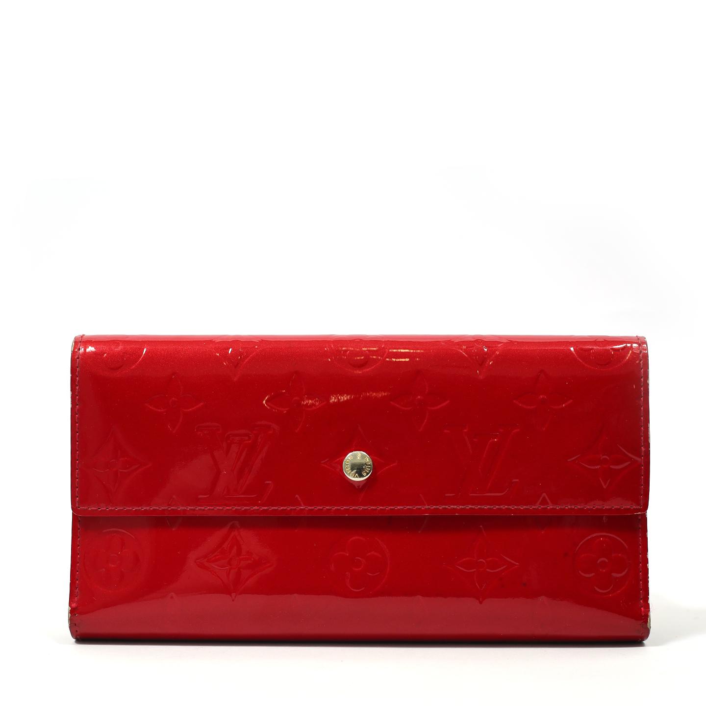 Louis Vuitton Pomme D'Amour Monogram Vernis Porte Tresor International Wallet (01)