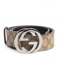 Gucci GG Supreme Canvas Interlocking G Belt, Size 36 (01)