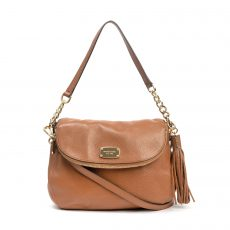 Michael Kors Tan Leather Bedford Tassel Bag (06)