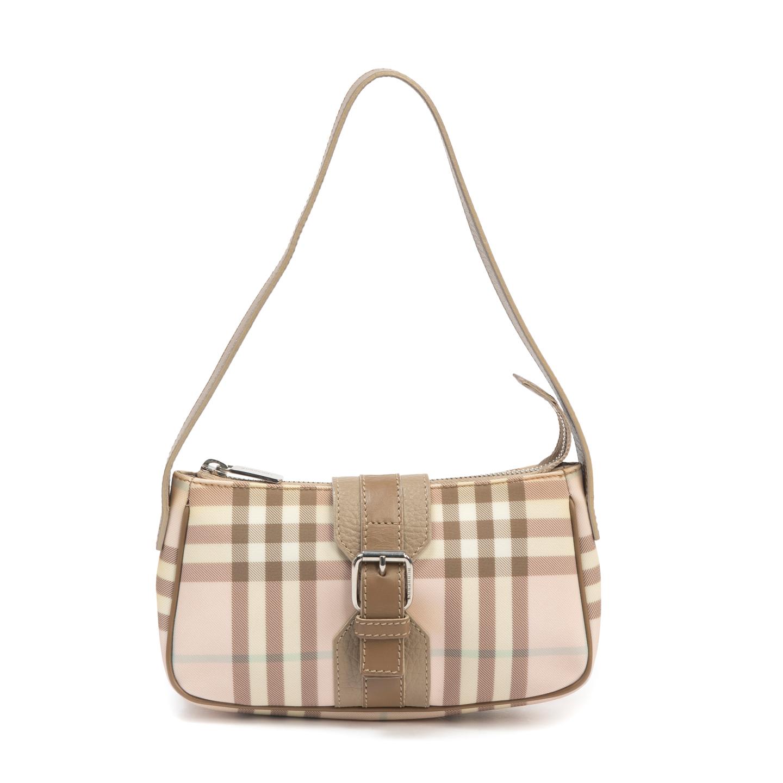 Burberry London Pink Nova Check Mini Shoulder Bag (06)