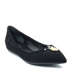 Louis Vuitton Black Suede Pinky Swear Ballerina Flats (07)