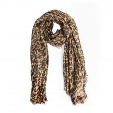 Louis Vuitton Cashmere Silk Stephen Sprouse Leopard Etole Stole Disco Marron (01)