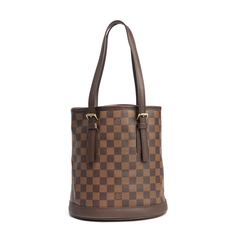 Louis Vuitton Damier Ebene Canvas Marais Bucket Bag (02)
