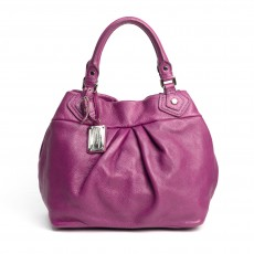 Marc by Marc Jacobs Purple Leather Classic Q Fran Hobo