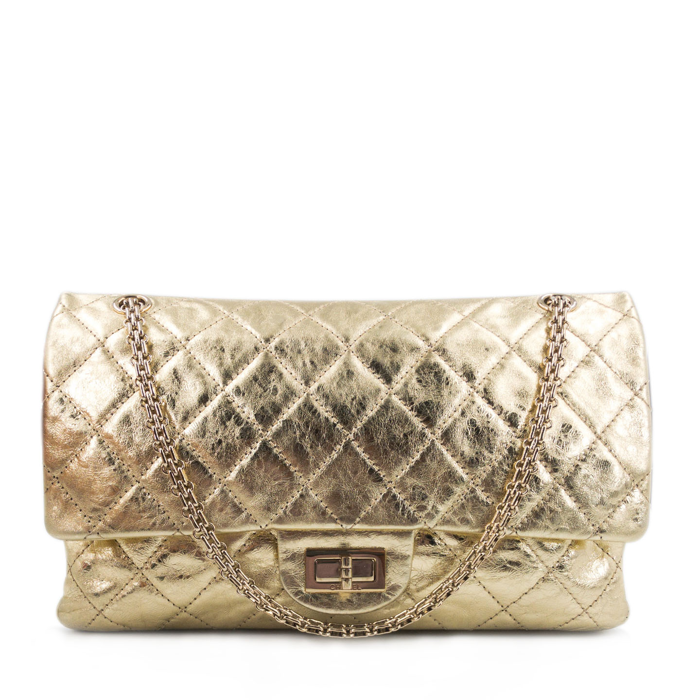 Chanel Gold Reissue 2.55 Quilted Calfskin Leather 226 Flap Bag