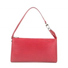 Louis Vuitton Red Epi Leather Accessories Pochette 24 Bag (06)