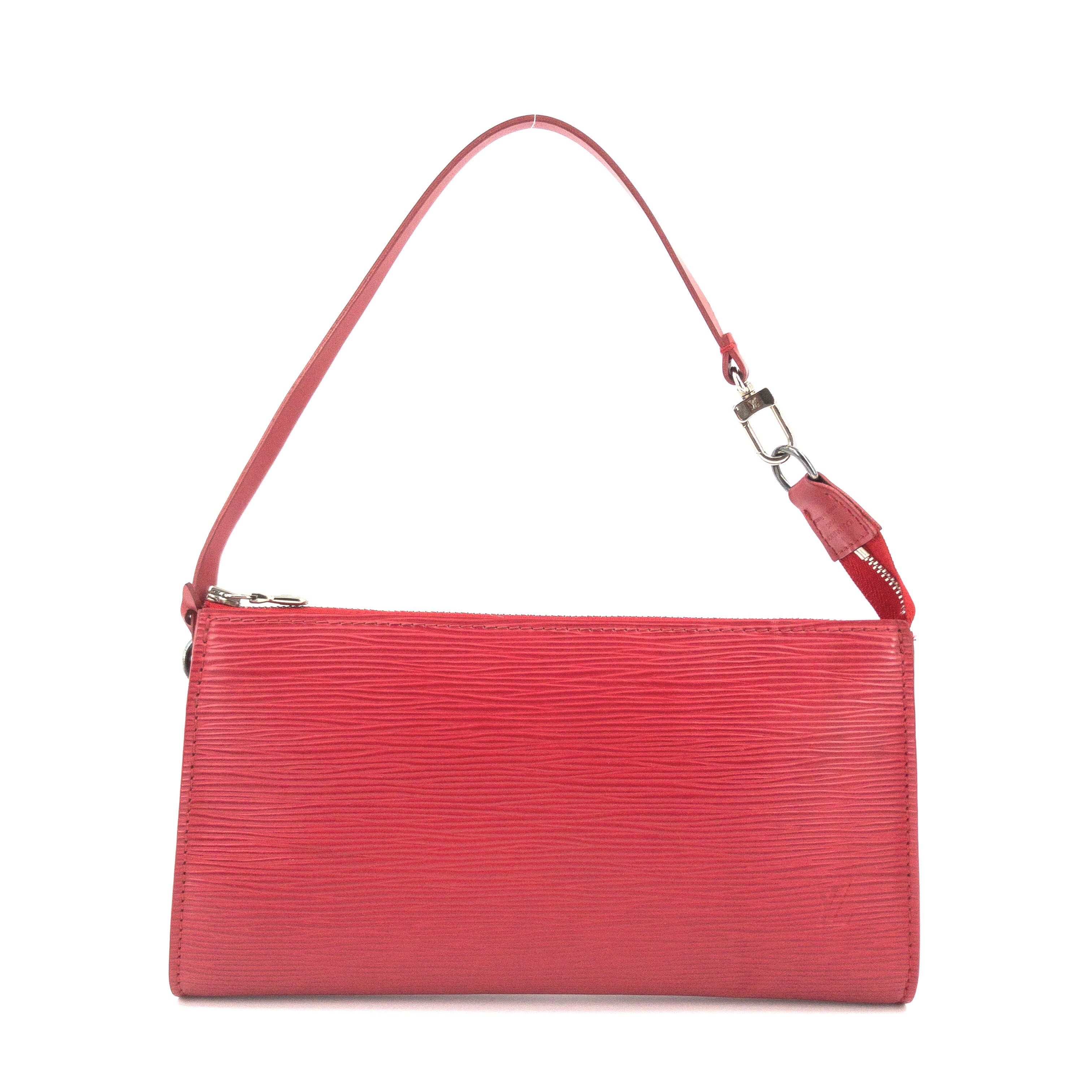 Louis Vuitton Red Epi Leather Accessories Pochette 24 Bag (06)