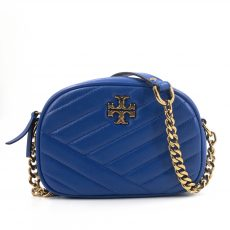 Tory Burch Nautical Blue Kira Chevron Small Camera Bag (02)
