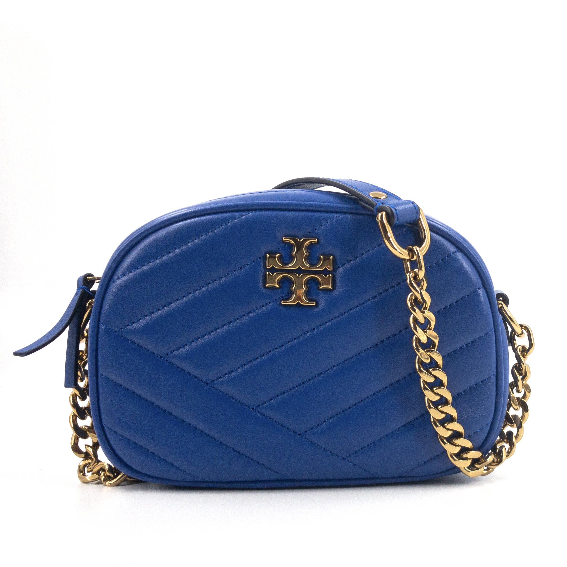Tory Burch Nautical Blue Kira Chevron Small Camera Bag (02)