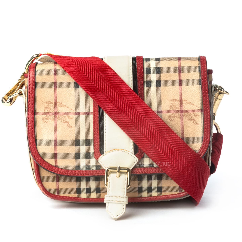 Burberry Haymarket Check Canvas Crossbody Bag