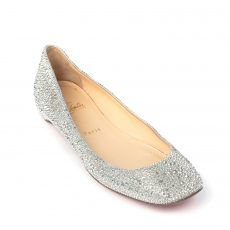 Christian Louboutin Gozul Strass Crystal Encrusted Ballet Flats