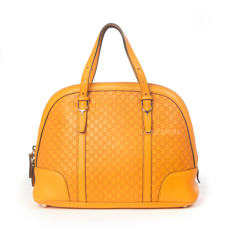 Gucci Orange Microguccissima Leather Nice Top Handle Bag