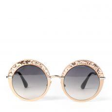 Jimmy Choo Gotha Glitter Round Sunglasses
