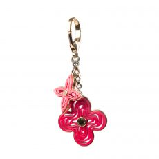 Louis Vuitton Pink Resin Naif Key Holder and Bag Charm