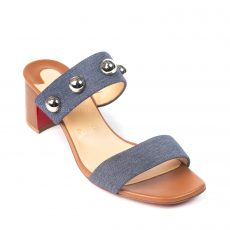 Christian Louboutin Simple Bille 55mm Denim Slide Sandal