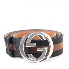 Gucci Canvas Web Interlocking G Belt (01)