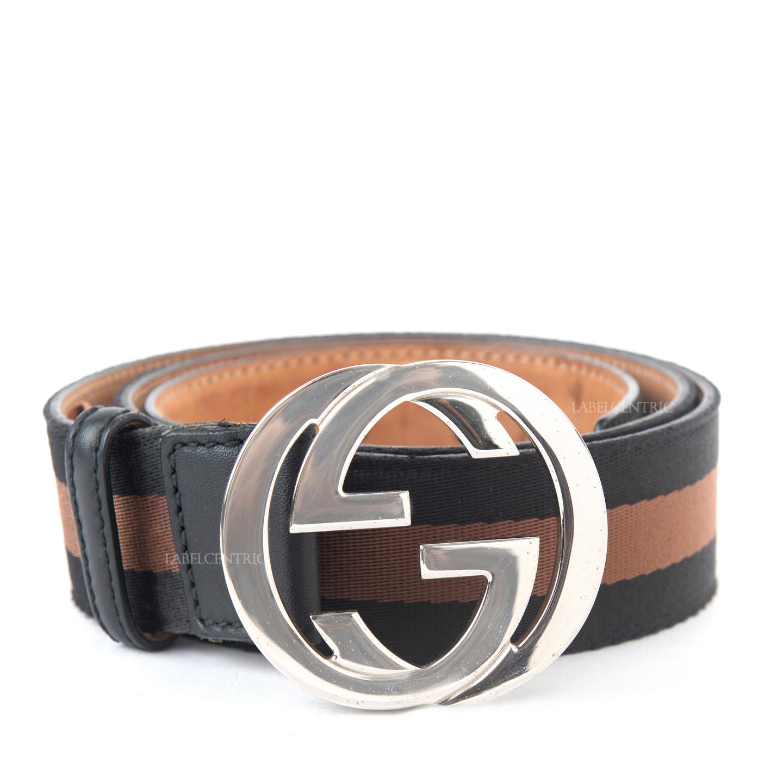 Gucci Canvas Web Interlocking G Belt (01)