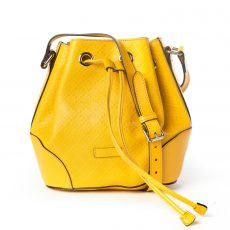 Gucci Yellow Diamante Leather Small Bucket Bag (01)