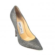 Jimmy Choo Anthracite Anouk Lame Glitter Pointed Toe Pumps