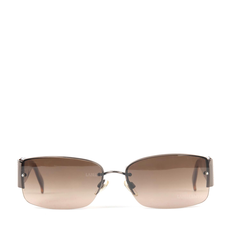 Chanel Tortoise Swarovski  Crystal CC Logo Sunglasses