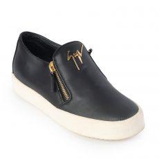 Giuseppe Zanotti Black Leather Eve Slip-On Sneakers